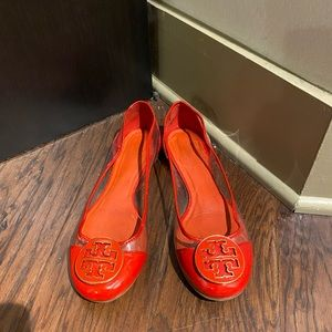 Tory Burch Red Logo Flat Sz 8.5